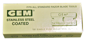 Razor Blades – Stainless Steel – 1″ Single Edge