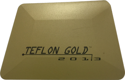 "Teflon Hard Card – 4"" Gold"