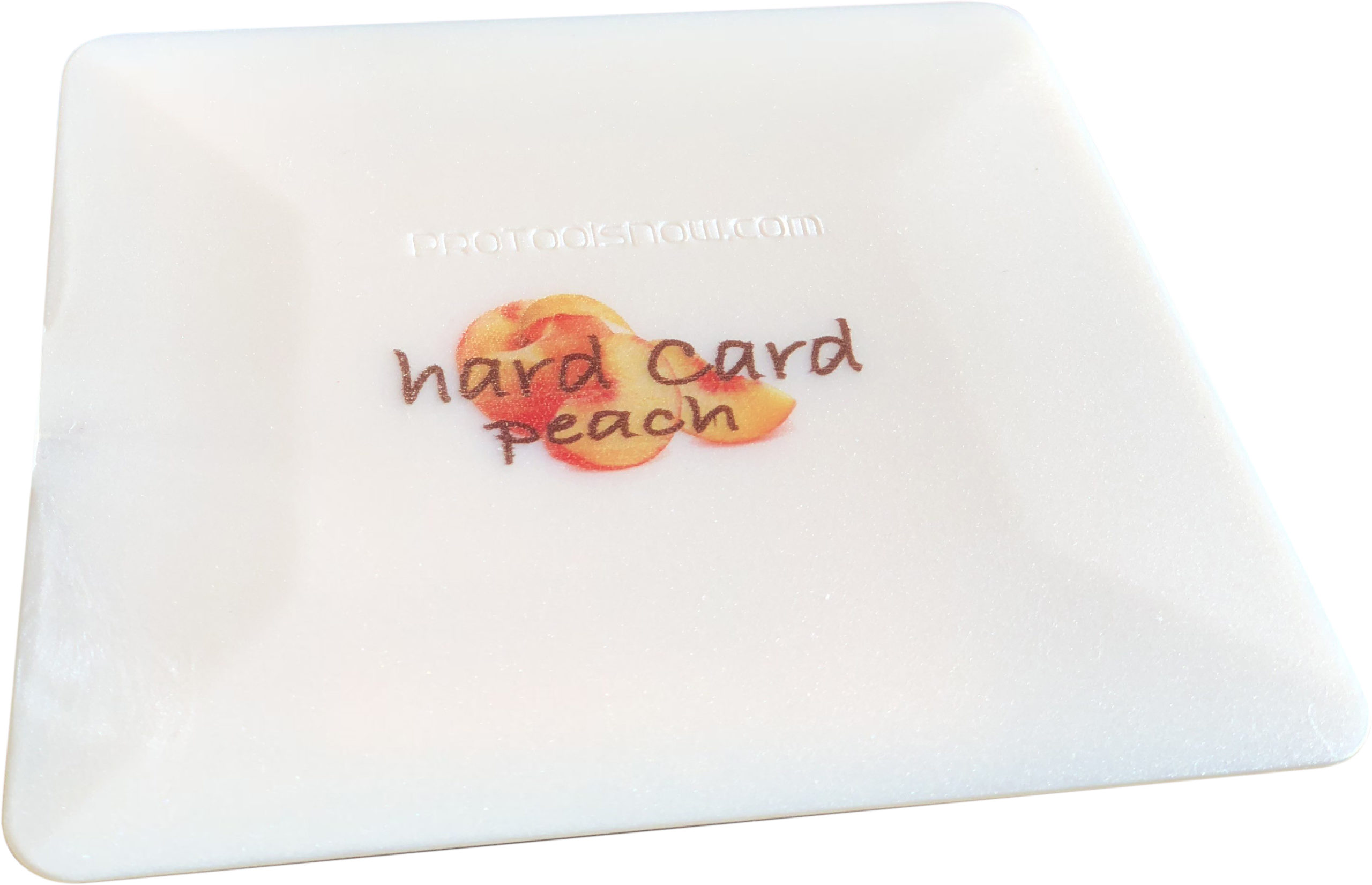 Peach hard card. Special composite for film